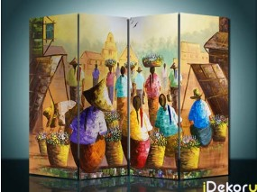 Pembatas Ruangan People at The Village - 4 Panel