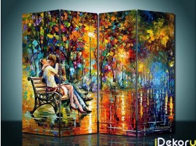 Pembatas Ruangan Couple People Kiss - 4 Panel